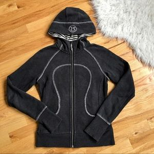Lululemon Dark Gray Travel Pillow Scuba Jacket